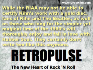 Greg Kihn strikes gold with his Rubber Soul !